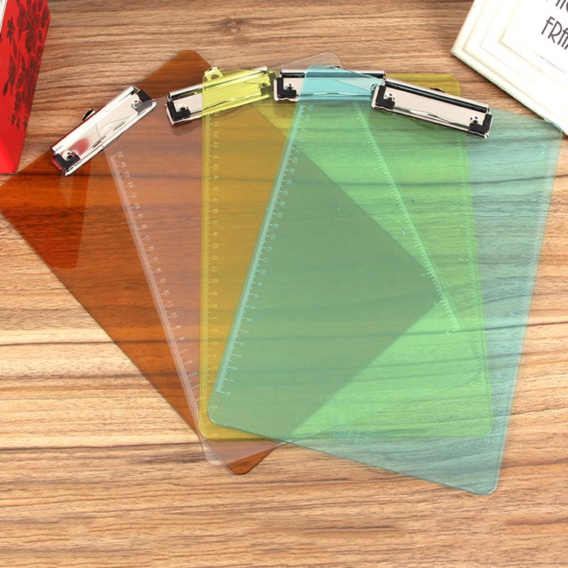 [해외]2pcs / lot A4 폴더 폴더 사무 용품 쓰기 보드 클립 PP 투명 플라스틱 벨트 규모 게시판 패드 보드/2pcs/lot A4 folder folder office supplies writing board clip PP transparent plastic