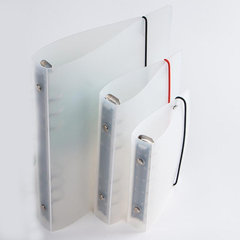 [해외]A5 A6 노트북 커버 무광택 반투명 커버 나선형 링 바인더 신축성 코드 여행자 용 플래너 액세서리 주최자/A5 A6 Notebook Cover Matte Translucent Cover Spiral Ring BinderElasticity Cord For Tra