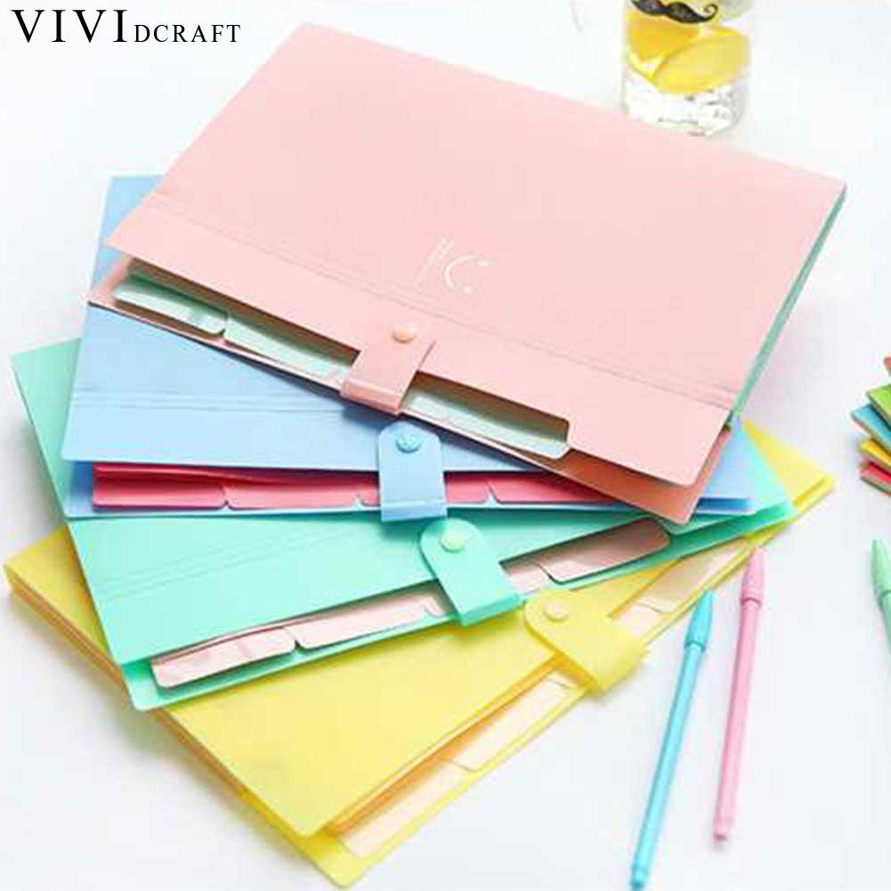 [해외]Vividcraft 사무 용품 1 * 캔디 색상 방수 A4 파일 폴더 웃는 얼굴 디자인 A4 용지 문서 가방 사각형 폴더/Vividcraft Office Supplies 1*Candy Colors Waterproof A4 File Folder Smiling Fa