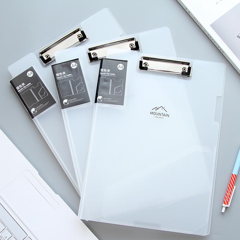 [해외]1pc 귀여운 작은 신선한 클립 보드 A4 흰색과 검은 색 문서 가방 파일 폴더 papelaria 비즈니스 금융 학교 supplie JB08/1pc Cute small fresh clipboard A4 white and black document bag file