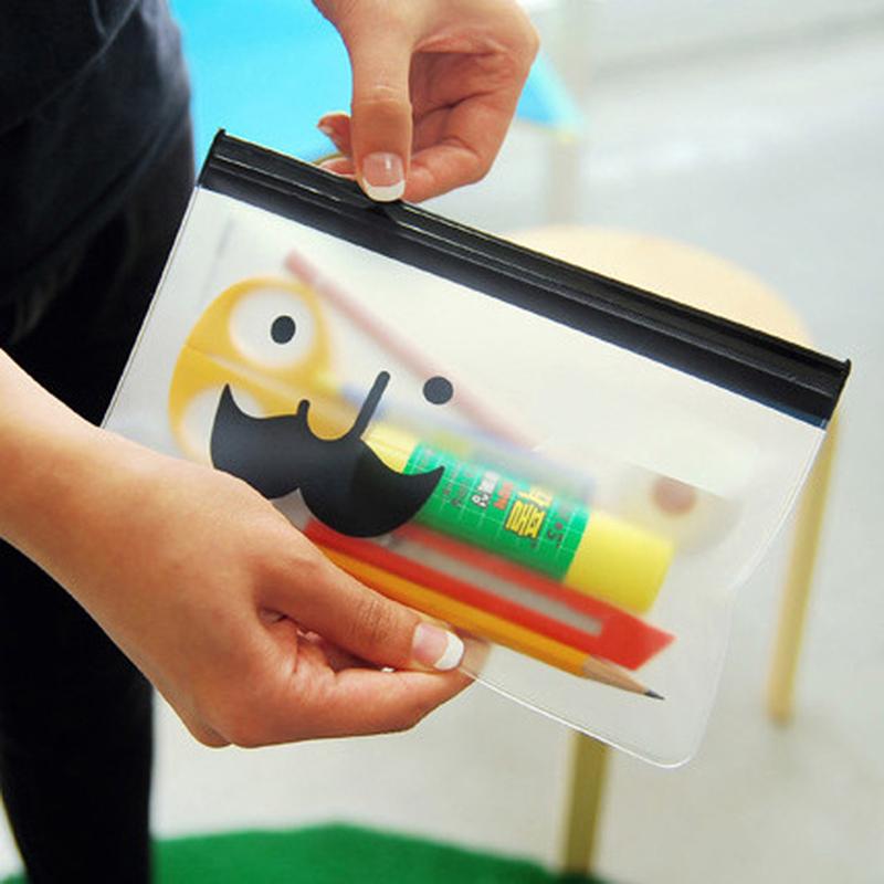 [해외]반투명 서리로 덥된 종이 가방 Creative Beard Mr. Pencil 학교 사무실 종이 가방/Translucent frosted paper bag Creative Beard Mr. Pencil School office paper bag
