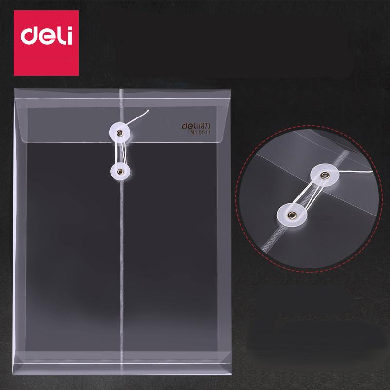 [해외]델리 12pcs 플라스틱 파일 봉투 단추 가방 A4 용지 스냅 프리젠 ??테이션 폴더 문서 홀더 파일 바인더 5511/Deli 12pcs  Plastic File Envelope Button Bag A4 Paper Snap Presentation Folder D