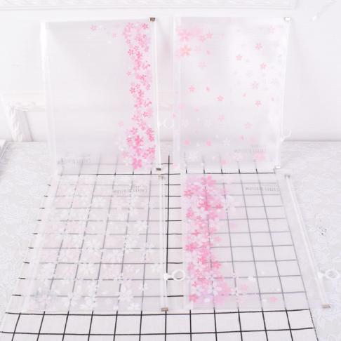 [해외]1 조각 사랑스러운 벚꽃 A4 지퍼 투명 한 문서 가방 사무실 편지지 저장소 가방 파일 폴더 025/1Pcs Lovely Cherry Blossoms A4 Zipper Transparent Document Bag office Stationery Storage B