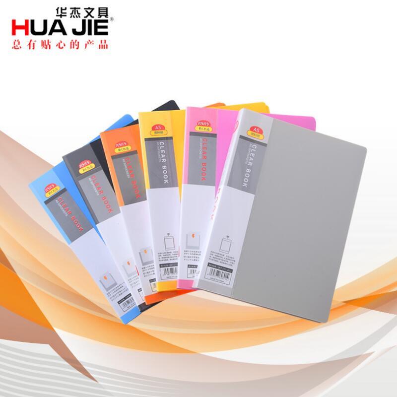 [해외]A5 30 페이지 플라스틱 파일 목록 책자 삽입 폴더 학교 영업 사무용품 폴더 플라스틱 저장 서류 클립/A5 30 pages Plastic File list Booklet Insert Folder School Business Office Supplies Fold