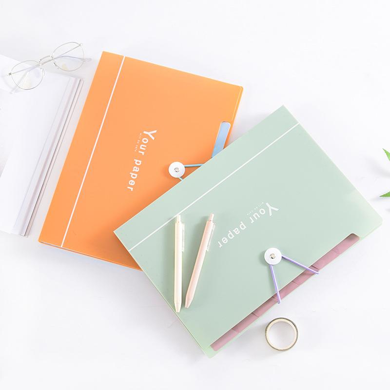 [해외]다채로운 A4 봉투 파일 폴더 단추 가방 장기 패키지 shool office 대용량 파일 홀더 -LH-WJD/colorful A4 envelope file folder button bag  organ package large-capacity file holder