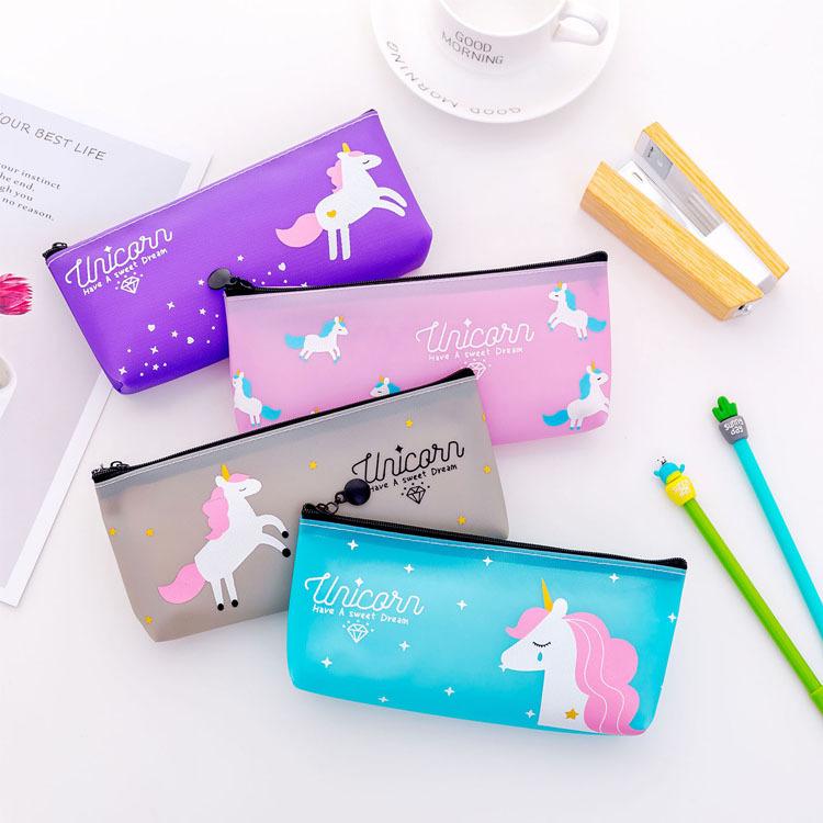 [해외]패션 카와이 연필 상자 유니콘 연필 경우 스토리지 펜 가방 신선한 스타일 유니콘 연필 가방 학교 편지지 사무 용품/Fashion Kawaii Pencil Box Unicorn Pencil Case Storage Pen Bag Fresh Style Unicorn