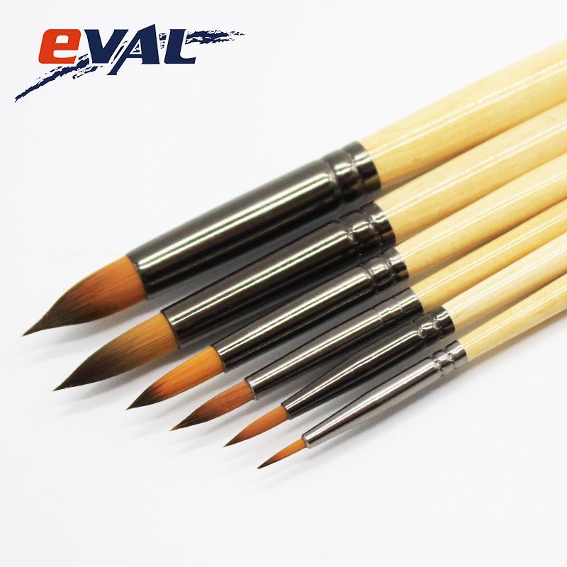 [해외]Eval 라운드 모양 나일론 머리 6pcs 어 수채화 페인트 브러시 DIY 드로잉 아트 브러쉬 펜 세트 학교 어린이 도구/Eval Round Shape Nylon Hair 6Pcs Chinese Watercolor Paint Brushes DIY Drawing