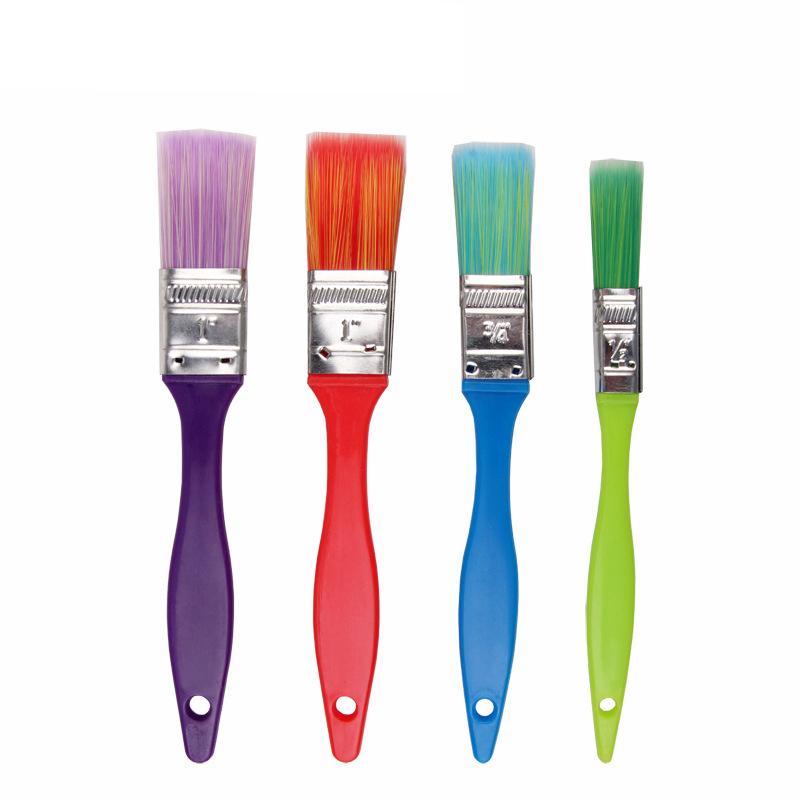 [해외]컬러 어린이 나일론 머리카락 플라스틱 핸들 브러시 DIY 조기 교육 드로잉 페인트 안료 4 개 / 세트/Colored children nylon hair plastic handle brush DIY Early childhood education drawing p