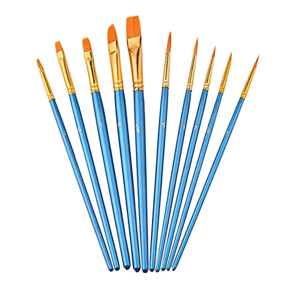 [해외]아이들을10Pcs 나일론 나무 손잡이 페인트 브러시 수채화 슈기 그림 그리기 그림 미술 용품 ??세트/10Pcs Nylon Wooden Handle Paint Brush for Kids Watercolor Gouache Drawing Painting Set Ar
