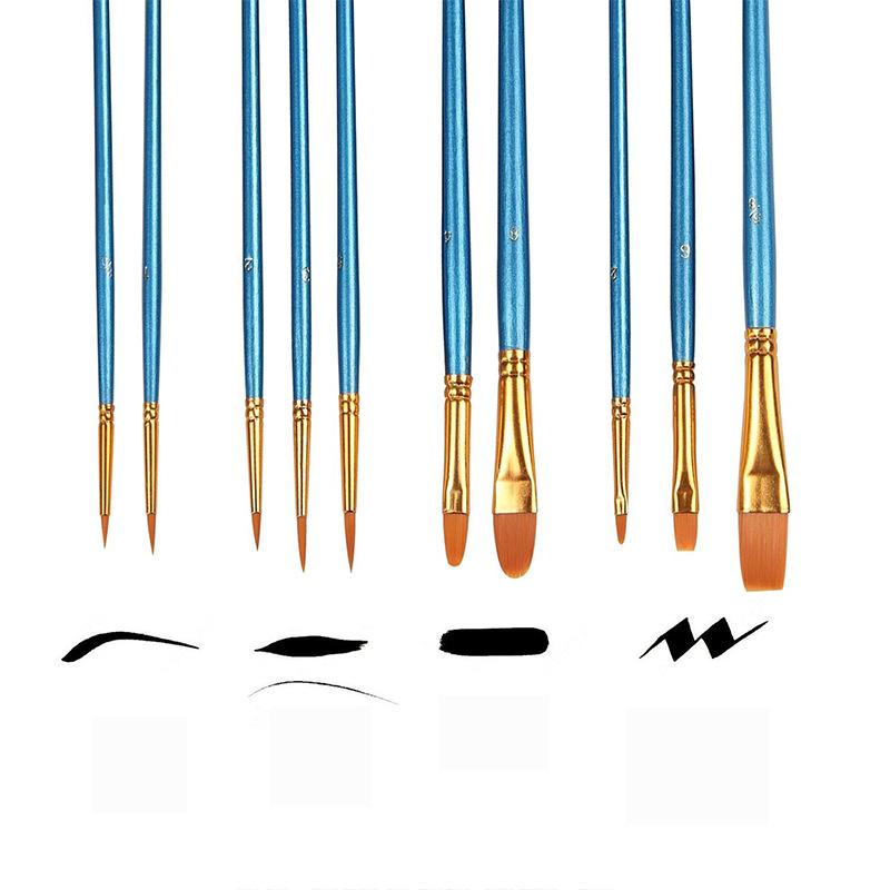 [해외]50 조각 세트 어린이 수채화 물감 구 아슈 회화 펜 나일론 머리 나무 손잡이 페인트 브러시 세트 그림 미술 용품/50 piece sets  Kids Watercolor Gouache Painting Pen Nylon Hair Wooden Handle Paint