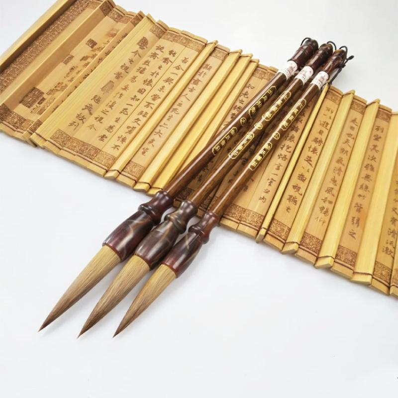 [해외]서예 브러쉬 펜 선물 세트 족제비 헤어 브러시 펜  서예 회화 브러시 성인 어린이를쓰기/Calligraphy Brush Pens Gift Set Weasel Hair Brush Pen Chinese Traditional Calligraphy Painting Br