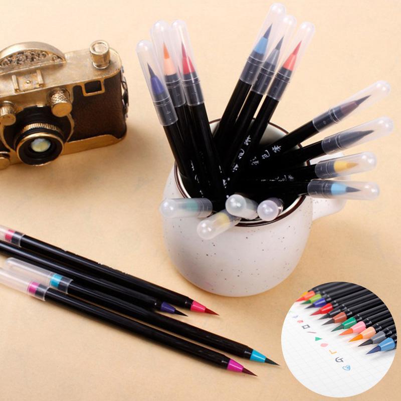 [해외]20 pc / set 수채화 그림 마커 펜 부드러운 브러쉬 펜 그리기 서예를 스케치 색칠 그림 아이들을선물/20 pcs/set Watercolor Painting Markers Pen Soft Brush Pen Set For Drawing Calligraphy