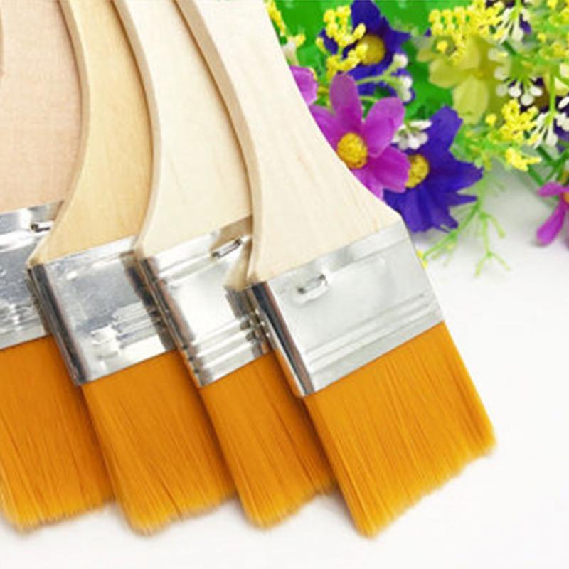 [해외]12Pcs / Set 수채화 물감 구 아슈 페인트 브러시 나일론 오일 나무 페인트 브러시 홈 벽 장식 도구 어린이 학교 선물 용품/12Pcs/Set Watercolor Gouache Paint Brush Nylon Oil Wood Handles Paint Bru