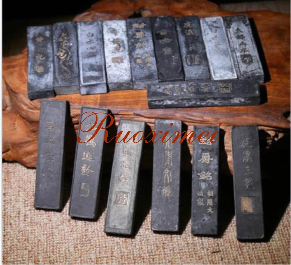 [해외]?3Pc 20-30 년 된 잉크 스틱 오일 그을음 잉크 스틱 달필 회화 수미 - E 31g/ 3Pc 20-30 Year Old Ink Stick Oil Soot Inkstick Calligraphy Painting Sumi-E 31g