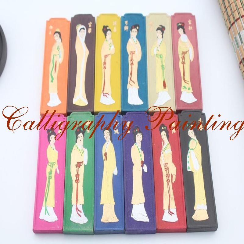 [해외]?슈퍼 파인 그을음 잉크 스틱 잉크 스틱 Hukaiwen 미용 서예 도구/ Super Pine Soot Ink Stick Inkstick Hukaiwen Beauty Calligraphy Painting Tool