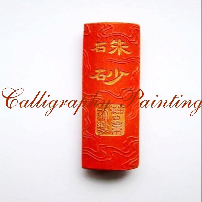 [해외]스페셜 냄새 진사 히아 모 (Cinnabar Huimo)  옛 잉크 스틱 잉크 스틱 Caogongsu/Special Smell Cinnabar Huimo Chinese Old Inkstick Ink Stick Caogongsu