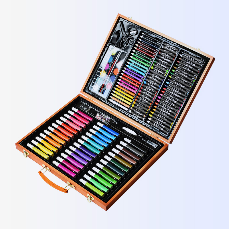 [해외]150pcs 어린이 그림 설정 미술 학교 용품 그림 설정 도구 팔레트 크레용 마커 브러쉬 펜 그림 도구 어린이 선물/150pcs Children Drawing Set Art School Supplies Painting Set Tools Palette Crayon