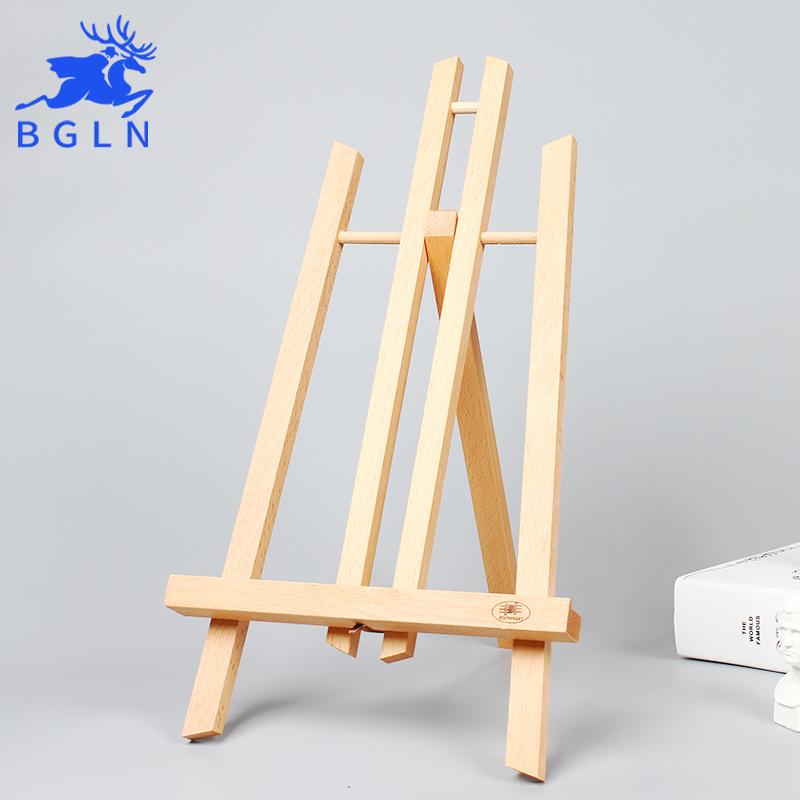 [해외]작은 나무 이젤 20.2 * 25 * 40cm 탁상 / 사진 광고 미니 미술 이젤 스탠드 미술 용품 ??회화 전시회/Small Wooden Easel 20.2*25*40cm Tabletop /Photo Advertisement Exhibition For Pain