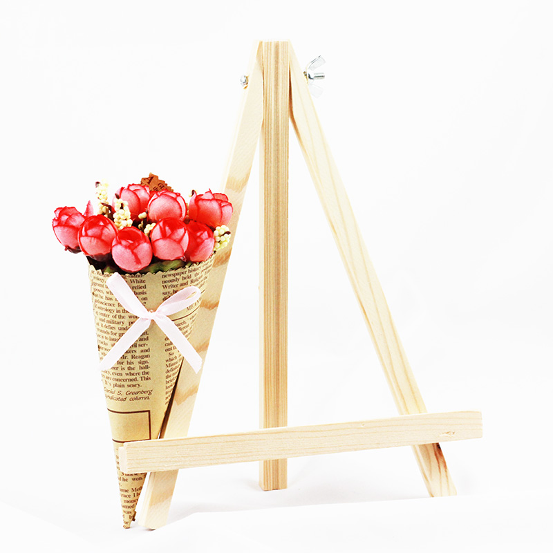 [해외]3 PC 9.5 인치 미니 나무 디스플레이 이젤 결혼식 디스플레이 및 학교 학생 미술 그림 용품에 대 한 자연 색상 그리기/3 Pcs 9.5 Inch Mini Wood Display Easel Drawing Natural Color for Wedding Disp
