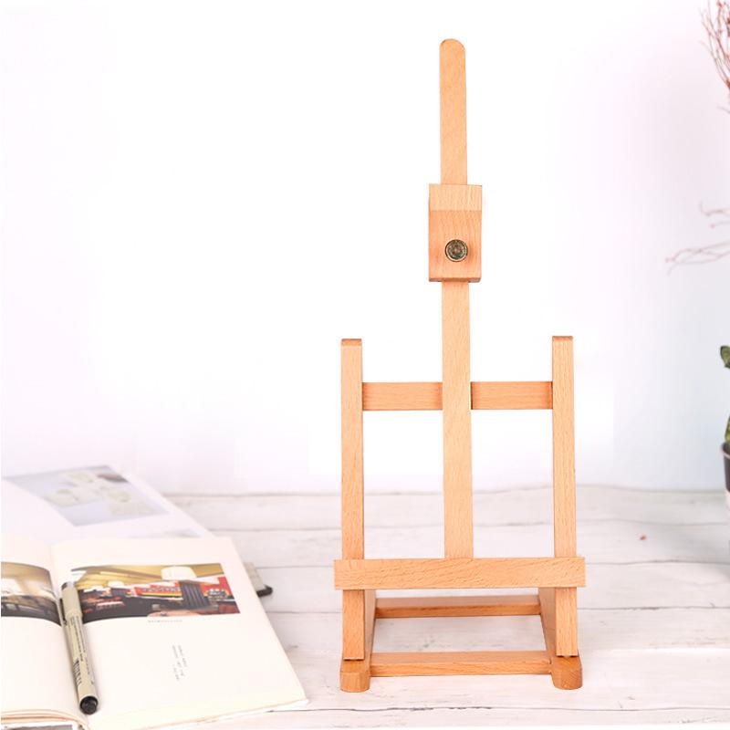 [해외]조정 가능한 작은 H- 프레임 나무 아티스트 탁상 이젤 광고 전시 유화 회화를데스크탑 이젤/Adjustable Small H-frame Wooden Artist Tabletop Easel Advertisement Exhibition Oil Painting Des