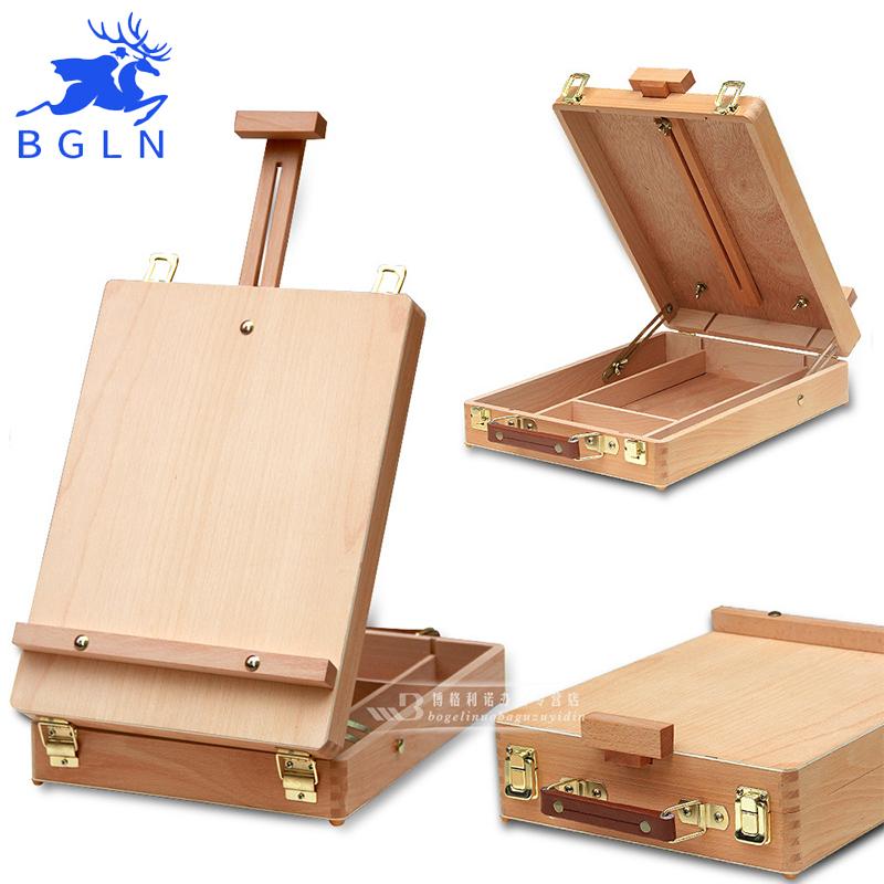 [해외]BGLN 필렛 데스크탑 Caballete 상자 이젤 페인팅 하드웨어 액세서리 다기능 오일 페인트 가방 상자 아트 용품/BGLN Fillet Desktop Caballete Box Easel Painting Hardware Accessories Multifunct