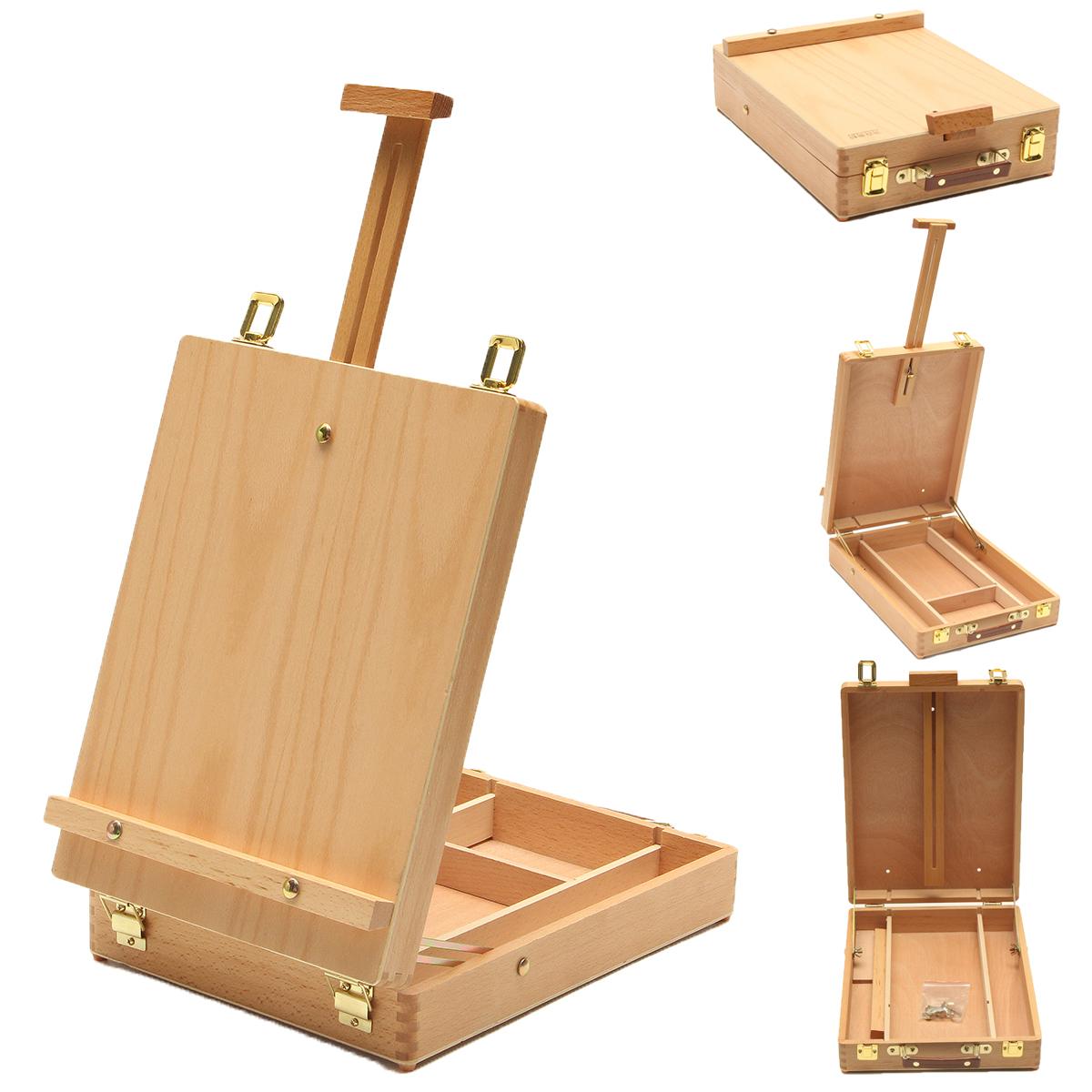 [해외]휴대용 이젤 나무 상자 아트 그림 그리기 테이블 상자 다기능 페인트 상자 가방 데스크탑 통합 상자 아트 용품/Portable Easel Wooden Box Art Drawing Painting Table Box Multifunctional Paint box Su