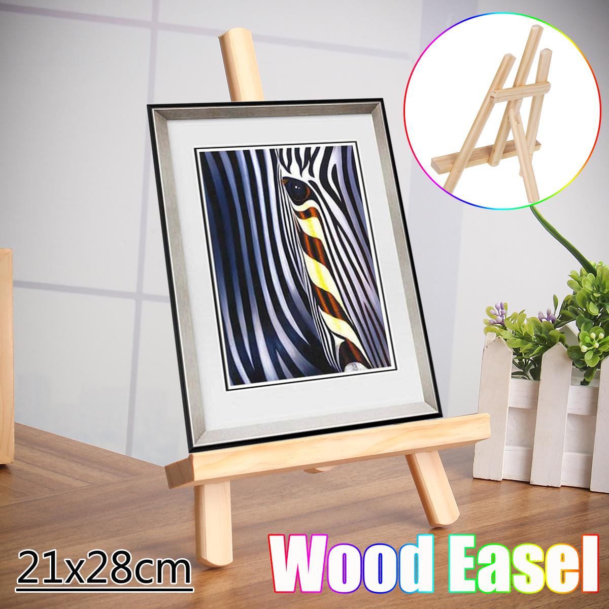 [해외]21x28cm 조정 가능한 아티스트 나무 이젤 달력 디스플레이 랙 웨딩 테이블 카드 삼각형 스탠드 홀더 DIY 파티 장식/21x28cm Adjustable Artist Wooden Easel Calendar Display Rack Wedding Table Car