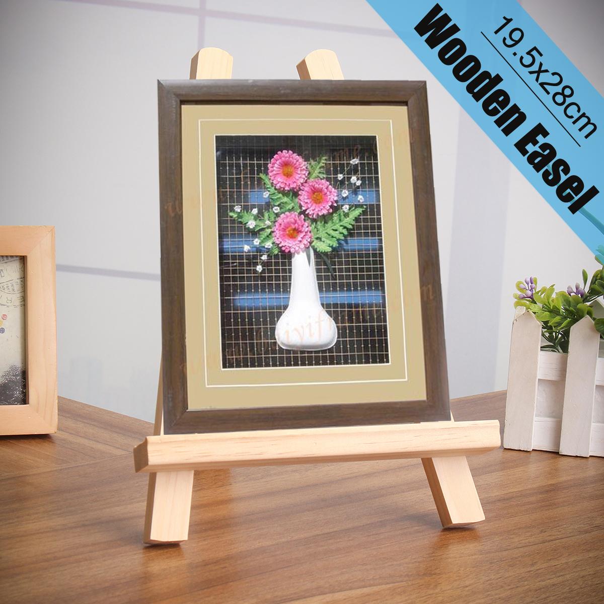 [해외]19.5x28cm DIY 파티 장식을미니 아티스트 나무 이젤 아티스트 캘린더 디스플레이 랙 웨딩 테이블 카드 삼각형 스탠드 홀더/19.5x28cm Mini Artist Wooden Easel Artist Calendar Display Rack Wedding Ta