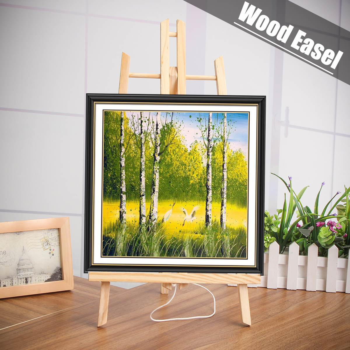 [해외]27cm * 50cm A4 / A3 SizeTable 아티스트 나무 이젤 캘린더 디스플레이 랙 웨딩 카드 삼각형 스탠드 홀더 DIY 파티 장식/27cm*50cm A4/A3 SizeTable Artist Wooden Easel Calendar Display Rac