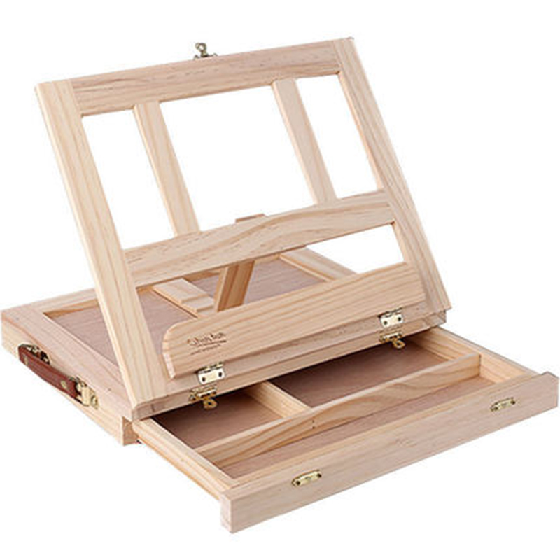 [해외]데스크탑 이젤 스케치 보드 나무 서랍 접이식 수채화 젤 유화 상자 스케치 보드 스케치/Desktop easel Sketchpad Wooden drawer folding watercolor easel Oil painting box Sketch sketching b