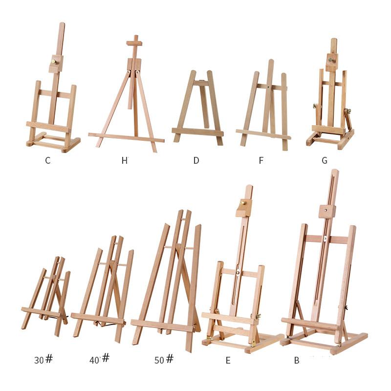 [해외]휴대용 아티스트 나무 이젤 수채화 이젤 구 아슈 프레임 오일 페인트 나무 스탠드 웨딩 테이블 카드 스탠드 디스플레이 홀더 파티/Portable Artist Wooden Easel Watercolor Easel Gouache Frame Oil paint Wood