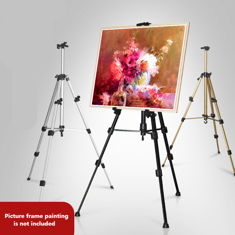 [해외]접이식 이젤 디스플레이 알루미늄 합금 이젤 스케치 수채화 유화 그리기 프레임 전문 아티스트 아트 도구/Foldable Easel Display Aluminum Alloy  Easel Sketch Watercolor Oil Painting Drawing Frame