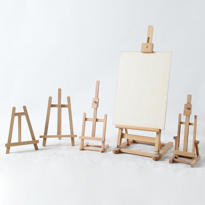 [해외]대형 나무 이젤 수채화 물감 구 아야 유화 프레임 우드 웨딩 테이블 카드 스탠드 디스플레이 홀더 파티 장식 페인트 스탠드/Large Wooden Easel Watercolor Gouache Oil painting Frame Wood Wedding Table Ca