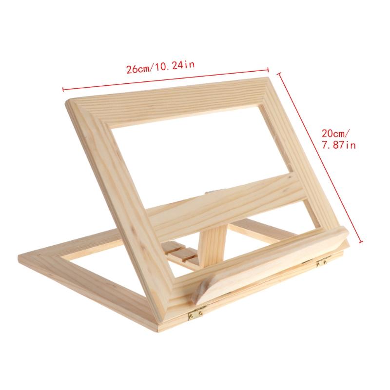 [해외]나무 패드 이젤 조절 태블릿 문서 요리 책 디스플레이 스탠드 홀더/Wooden Pad Easel Adjustable Tablet Document Cookbook Display Stand Holder