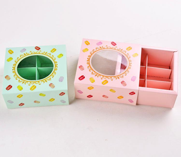 [해외]12 * 11 * 5.2cm 마카롱 쿠키 boxwindow 비스킷 포장 상자 케이크 포장 100piece의 \\ 많은/12*11*5.2cm Macarons cookie boxwindow biscuits packing box cake packaging 100piec