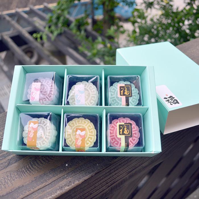 [해외]크기 : 21 * 12 * 5cm 마카롱 상자 고급 마카롱 / 달 케이크 상자 6 격자 서랍 케이크 상자 쿠키 비스킷 포장 100PCS / 많은/Size: 21*12*5cm macaron boxes High grade Macaron/Moon cake box 6