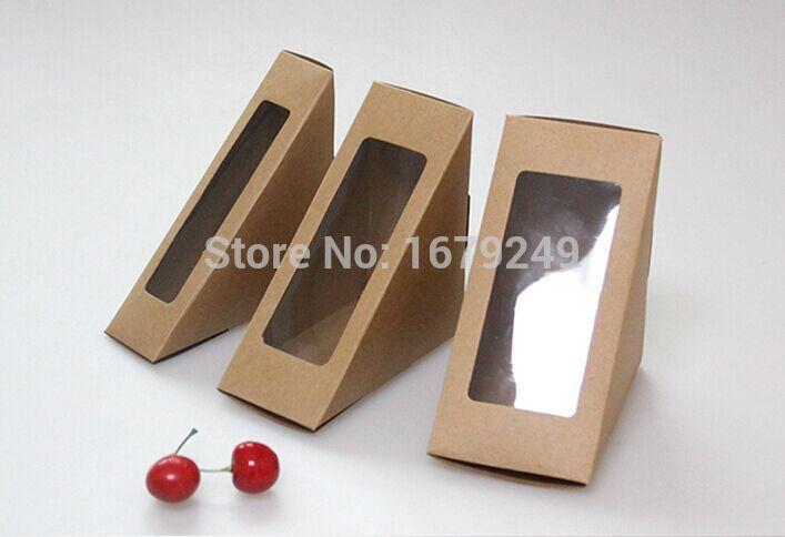 [해외]12 * 17 * 6CM 샌드위치 상자 브라운 케이크 boxwindow 쿠키 상자 선물 상자 200piece의 \\을 많이합니다. /12*17*6CM Sandwich box Brown Cake boxwindow Cookies box Gift box 200piece