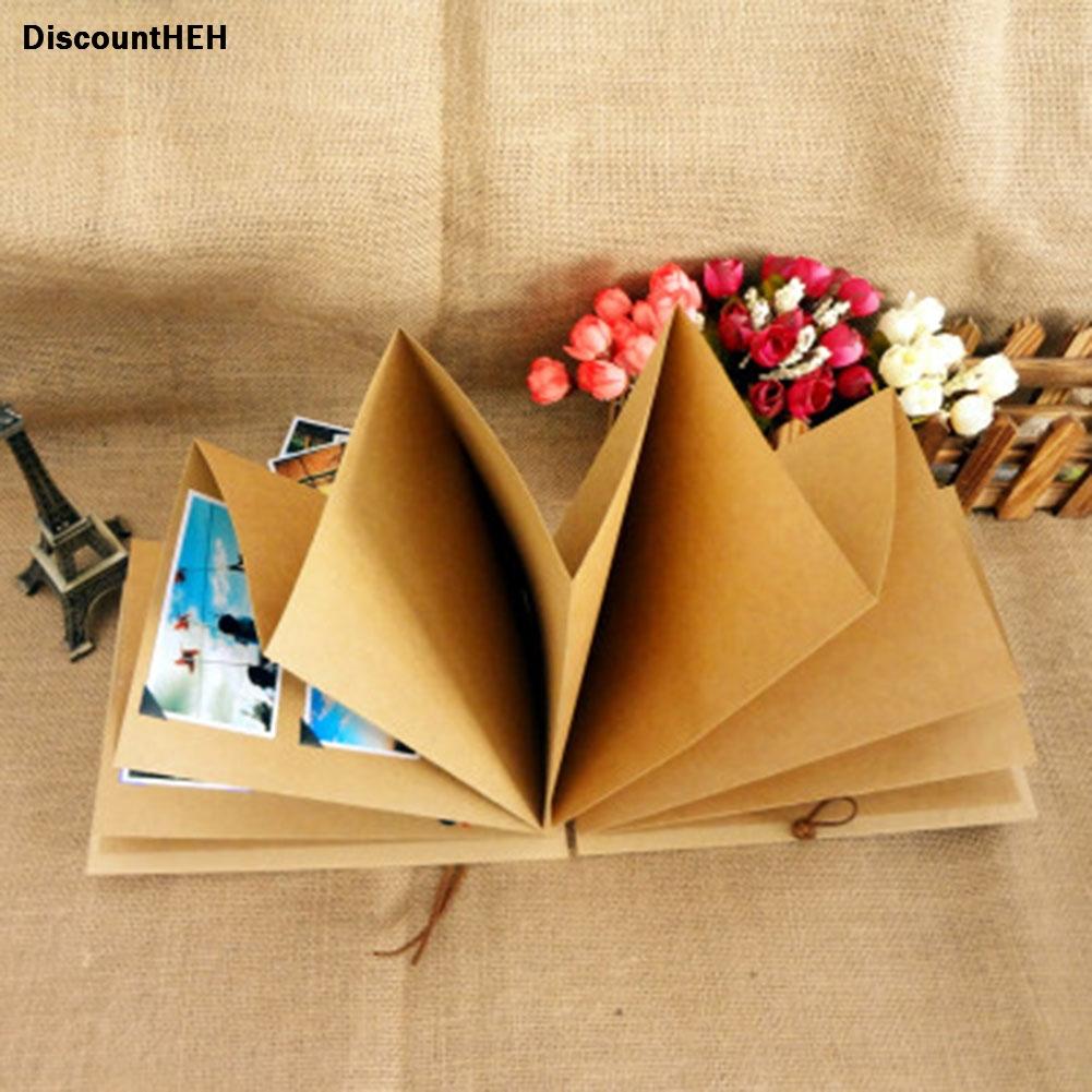 [해외]접는 사진 앨범 아름다운 개별적인 단단한 Kraft 종이 현대 스크랩북/folding   Photo Album Beautiful Individual Hardcover  Kraft Paper Modern Scrapbook