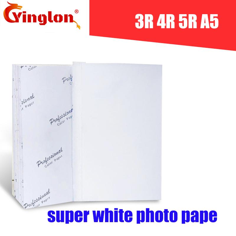 [해외]100pcs / lot 프린터 사진 용지 3R 4R 5R A5 사진 용지 (잉크젯 프린터 광택 인쇄 용지 사무소 & amp; 가정 용품/100pcs/ lot printer photo paper 3R 4R 5R A5 photographic papers fo