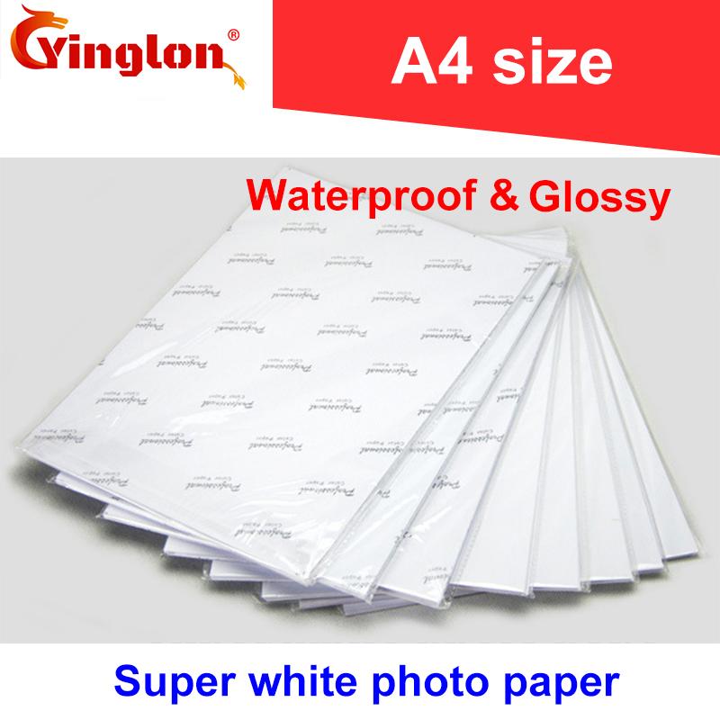 [해외]20pcs / lot A4 포토 용지 180g / 200g / 230g / 260g 방수 광택 포토 용지 (가정용 잉크젯 포토 프린터 용) 레이저 프린터/20pcs/lot A4 photo paper 180g/200g/230g/260g waterproof glos