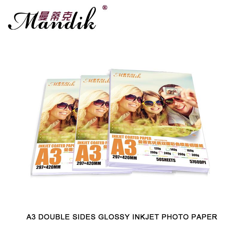 [해외]300g 양면 광택 코팅 된 포토 용지 A3 잉크젯 프린터 용/300g double sides glossy coated photo paper A3 for inkjet printer
