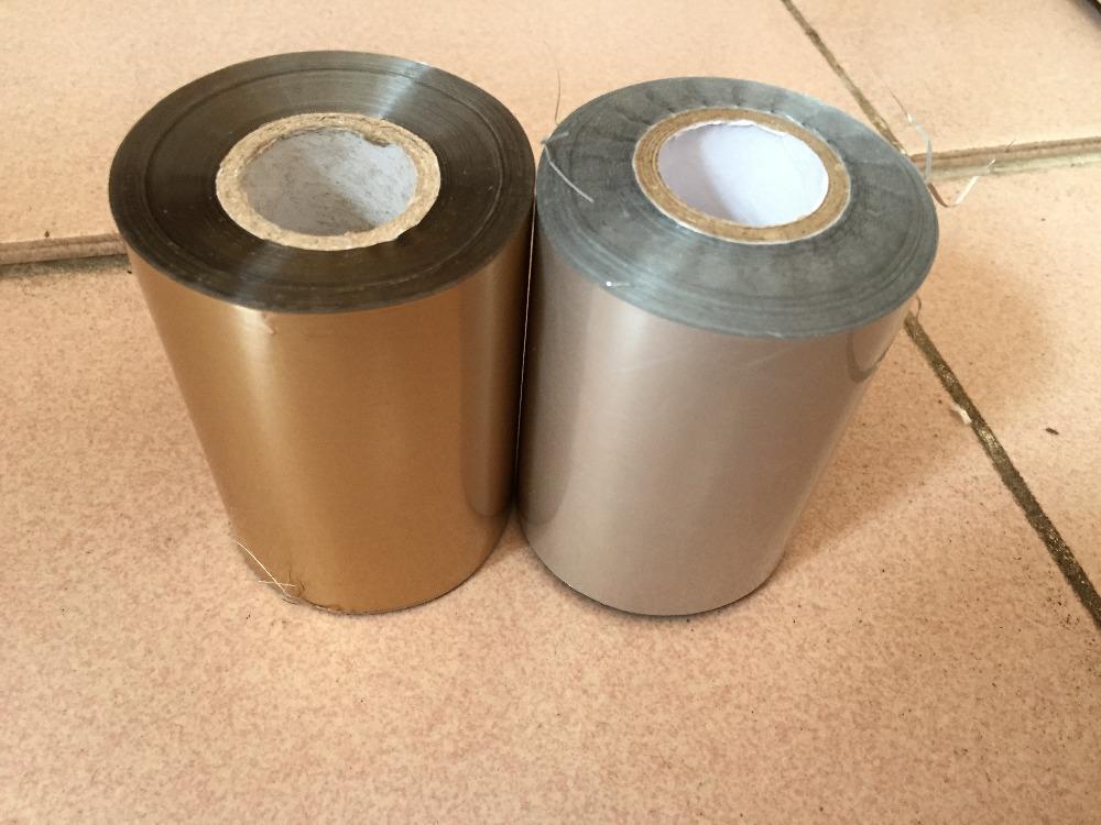 [해외]매트 골드 + 매트 실버 2 피스 (8cmx120m) / 롤 핫 스탬핑 호일 용지 롤 Hot 호일 또는 플라스틱 용지/Matte Gold+Matte Silver 2Piecesx(8cmx120m)/Roll Hot Stamping Foil Paper Roll Hot