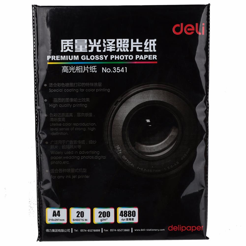 [해외]잉크젯 프린터 광택 포토 용지 홈 오피스 공급 고품질의 대부분을델리 4R / A4 발광 사진 용지/Deli 4R/A4 luminous photo paper for most of inkjet printer glossy photographic paper home o