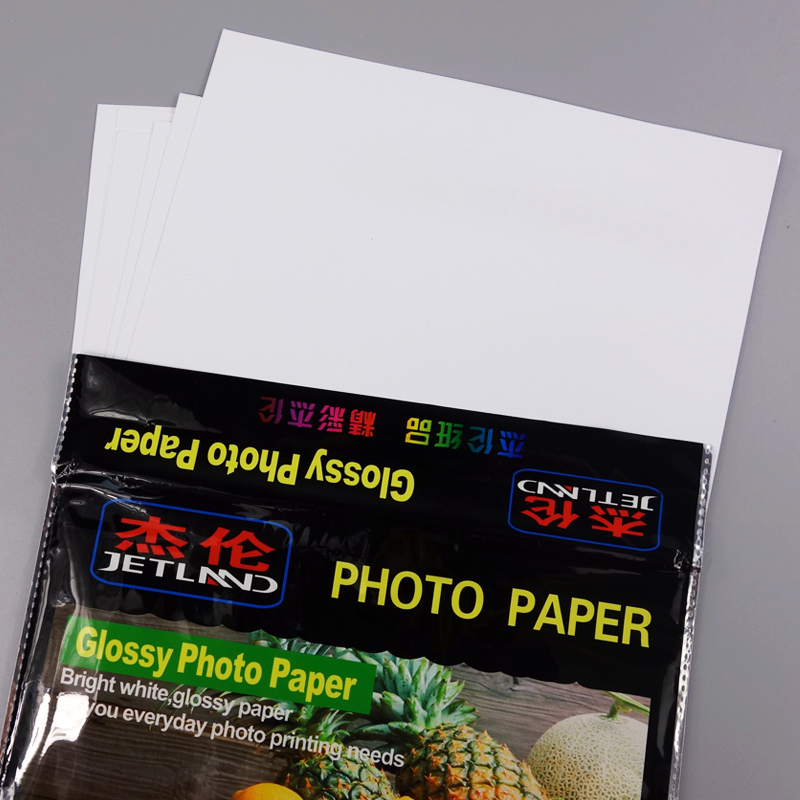 [해외]Jetland 광택 인화지 A4 프리미엄 컬러 잉크젯 용지 115g 180g 230g RC260g for color ink Printer/Jetland Glossy Photo Paper A4 Premium  Luminous inkjet paper 115g 180