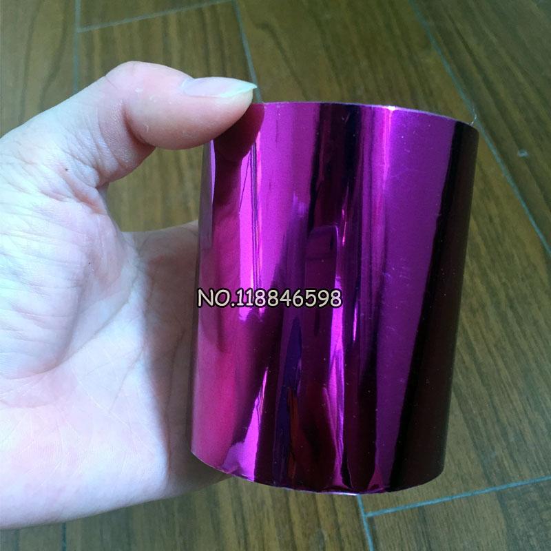 [해외]?보라색 Hot 호 일 용지 핫 스탬핑 상자 / 플라스틱 / ppc / pvc / pp 재질 8cmx120m / Lot/ Purple Hot Foil Paper Hot Stamping Box/Plastic/ppc/pvc/pp Material 8cmx120m/Lo