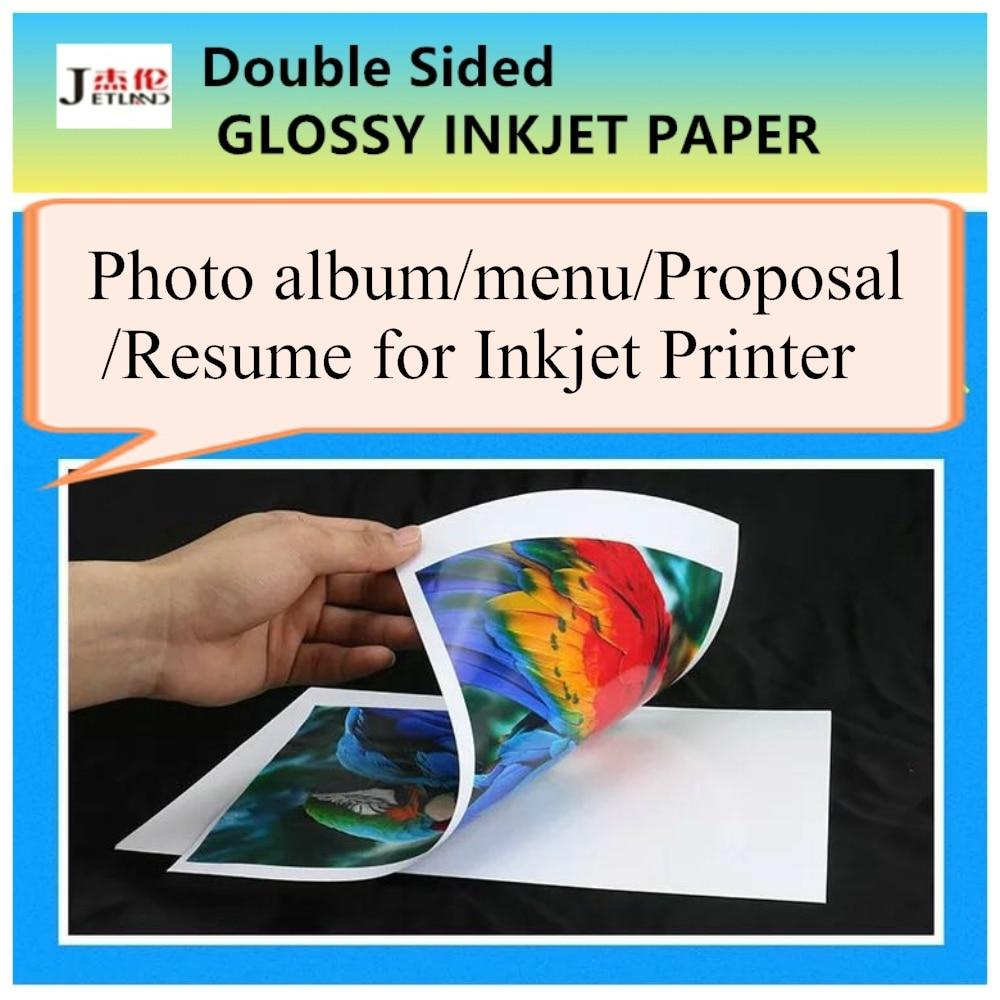 [해외]양면 A4 잉크젯 인화지 a4 크기, 광택면, 50 매 / 팩, 메뉴 / 사진 앨범 이력서 제안 표지 인쇄/Double Sided A4 Inkjet Photo Paper a4 size, Glossy Surface, 50 sheets/pack, Menu/Photo