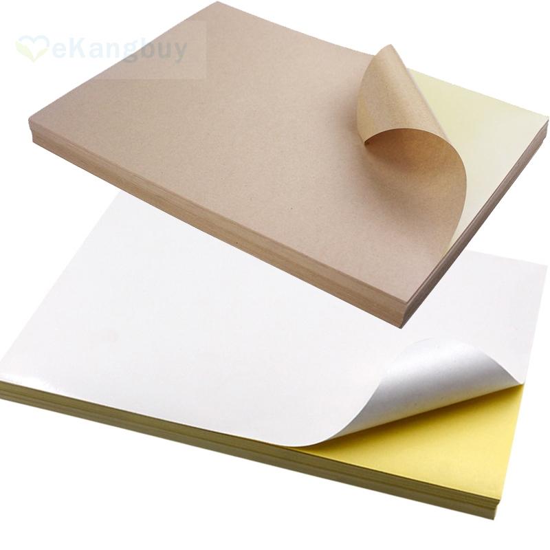 [해외]50sheets A4 크래프트 화이트 자기 접착 용지 인쇄 복사 용지 DIY 스티커 라벨 용지/50sheets A4 Kraft White Self-Adhesive Paper Print Copy Paper DIY Sticker Label Paper