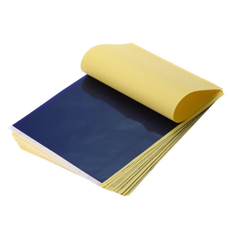 [해외]100Pcs / Lot 문신 전송 용지 공급 추적 바디 아트 스텐실 탄소 전송 용지 A4 복사/100Pcs/Lot Tattoo Transfer Paper Supply Tracing Copy Body Art Stencil Carbon Transfer Paper A