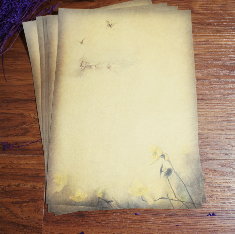 [해외]80pcs 어 잉크 회화 전통 고대 고전 로터스 편지 패드 / 종이 빈티지 선물 기념품 쓰기 크래프트/80pcs Chinese Ink Painting Traditional Ancient Classical Lotus Letter Pad / Paper Vintage