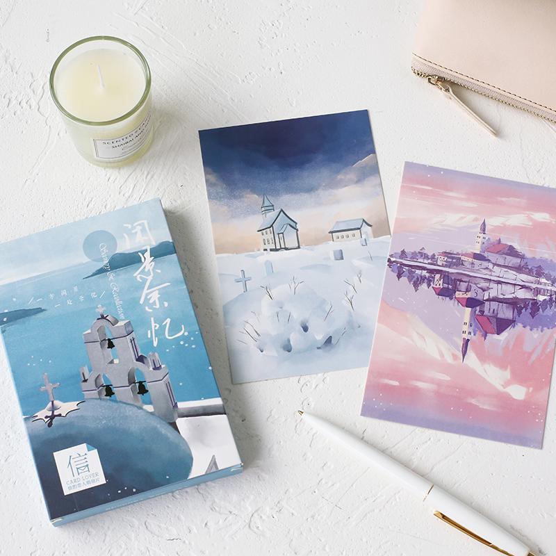 [해외]카드 애호가 레저 추억 엽서 책갈피 편지지 인사 카드 1 lot = 1 pack = 30 pcs/Card Lover Leisure memories postcard bookmark Letter paper greeting card 1 lot = 1 pack = 30